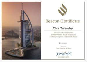 Proud to become Jumeirah Beacon Specialists